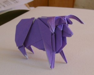 origami gnu - well sort  of.